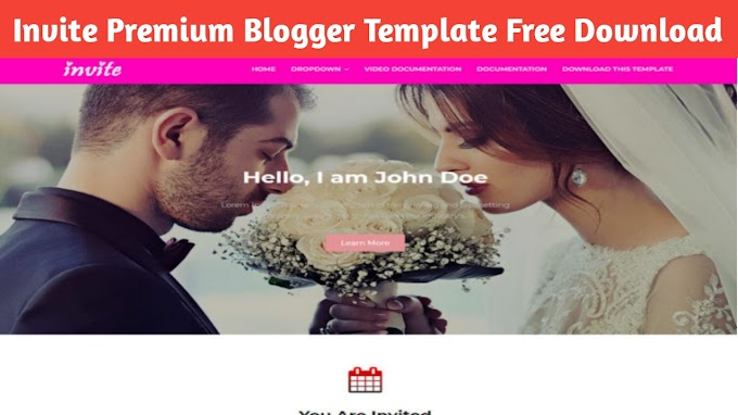 Invite premium blogger template free download, Responsive Blogger Template