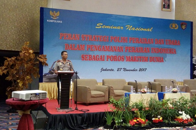 Kabaharkam Polri Buka Seminar Nasional Peran Strategis Polisi Perairan dan Udara
