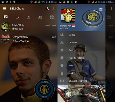 BBM Change Background With Inter Milan v3.0.1.25 MOD APK