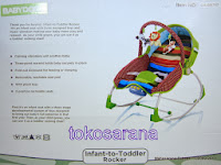 Baby Bouncer BabyDoes CH-BB762 Infant to Toddler Rocker 2