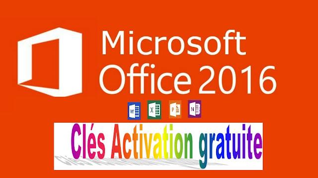 Clés Microsoft Office 2016 update 2020