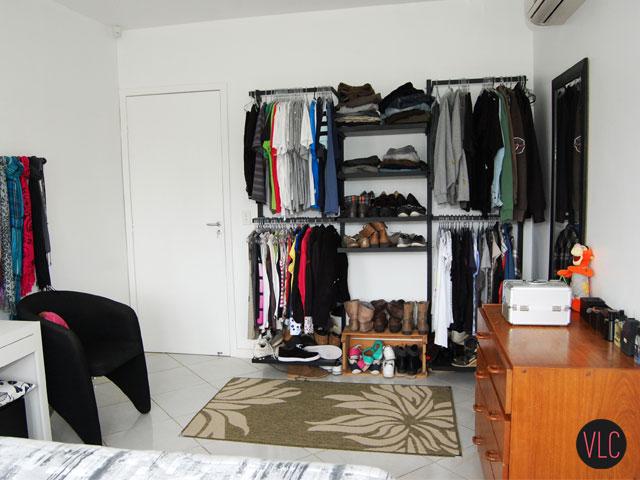 Loja Artesanato Zona Norte ~ Meu closet as desvantagens do armário aberto Vida Louca de Casada Decoraç u00e3o barata, DIY