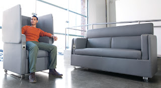 High Tech Powered Lounge Furniture from OFM Morph Collection