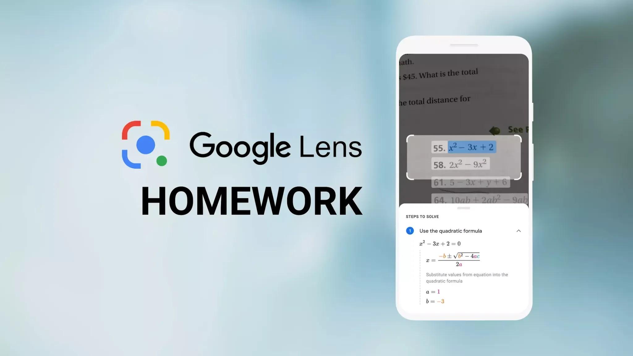 Google-lens-homework