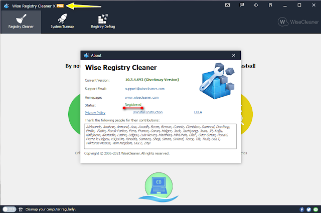 Wise Registry Cleaner Pro giveaway