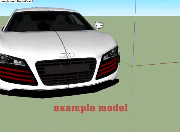 How to use Audi R8 Tracing in Google SketchUp   Drawing and Graphics