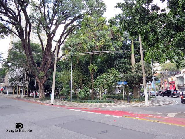 Vista ampla da Praça Vilaboim - Higienópolis - São Paulo