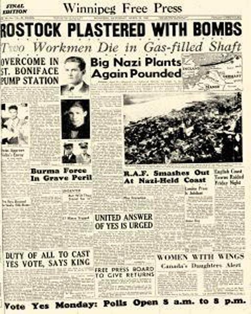 Winnipeg Free Press 25 April 1942 worldwartwo.filminspector.com