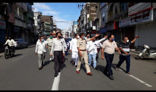 राजवाड़ा और आसपास का क्षेत्र खाली कराकर किया गया सील, भारी पुलिस बल तैनात