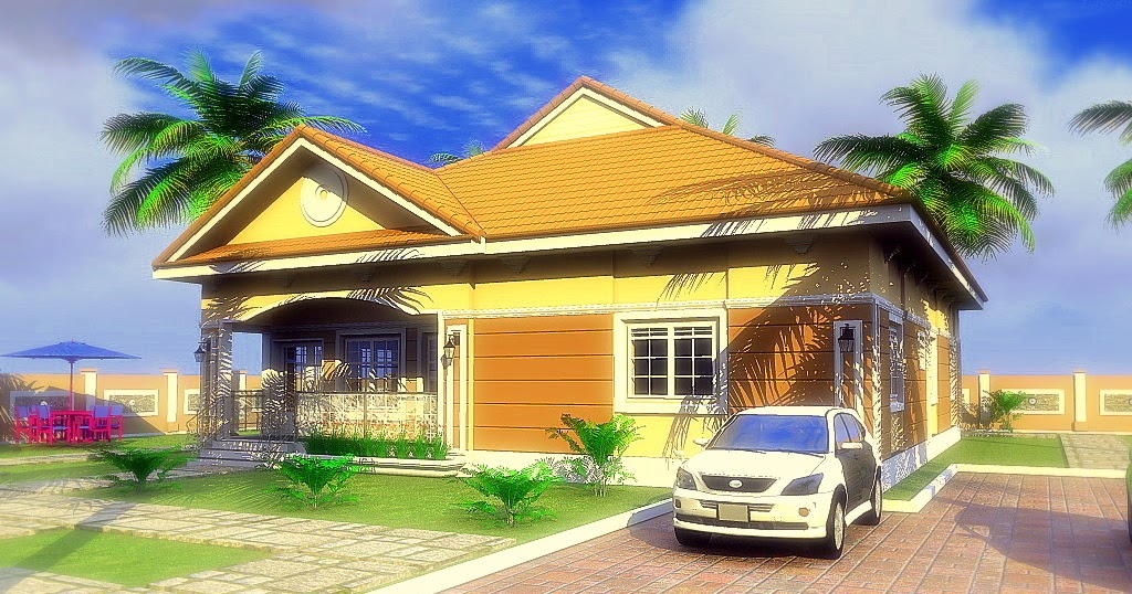 Residential Homes And Public Designs 2 Bedroom Bungalow