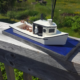 Cape Islander Fishing Boat Model Made from Old Real Estate Signs - Coroplast® DIY - CoroplastCreations.com - photos by: HalifaxSportsPhotos.ca