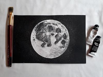 كيفية رسم قمر مكتمل