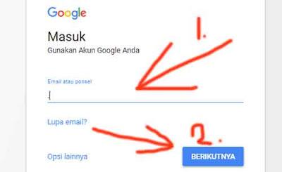 cara login gmail lupa kata sandi