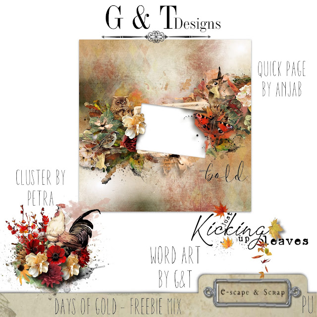 Days of Gold Kit & Freebie plus Collage Art Papers