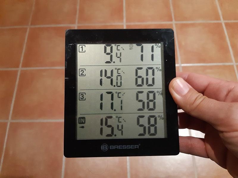 Temperatura del 5 gennaio 2021, in casa