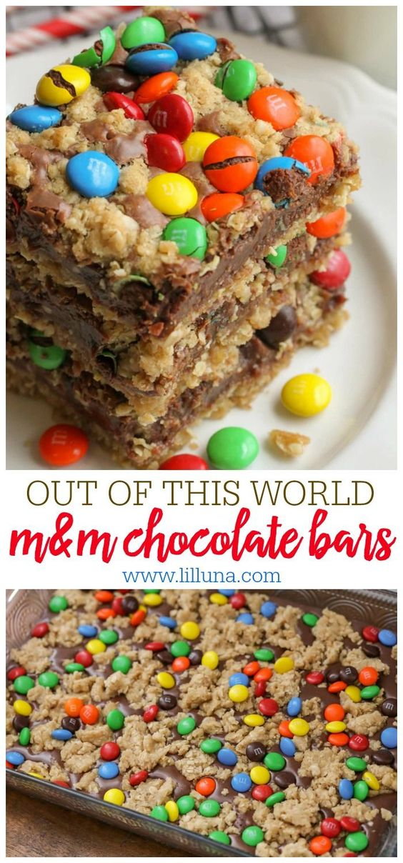 M&M CHOCOLATE BARS #M&m #Dessert #cookies #cookiesrecipe #Bestcookies #chocobars #Chocobarscolourfull #Bestchocobars
