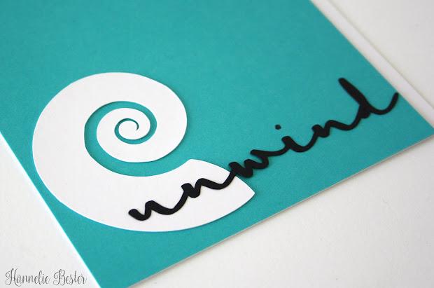 beach inspired greeting card - unwind