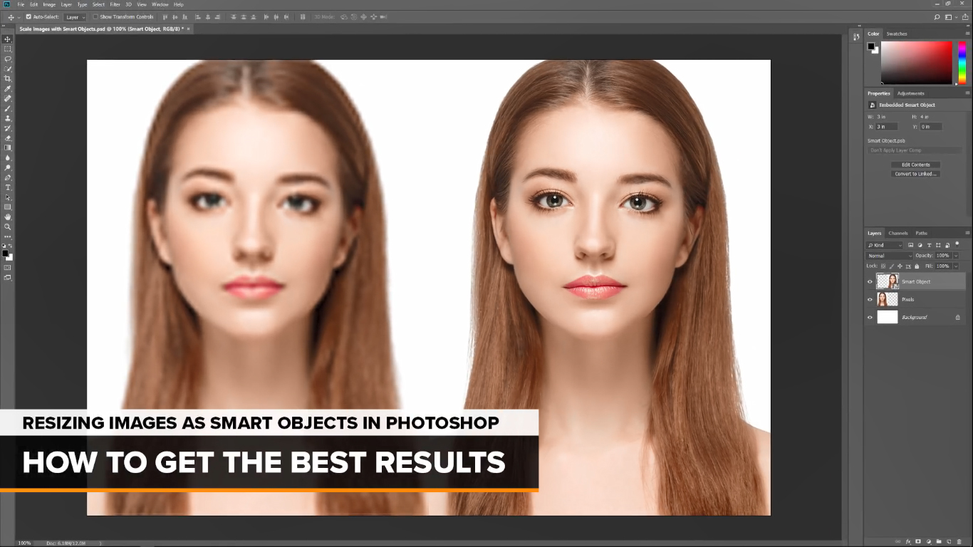 Resize Images without Losing Quality with Photoshop Smart Objects