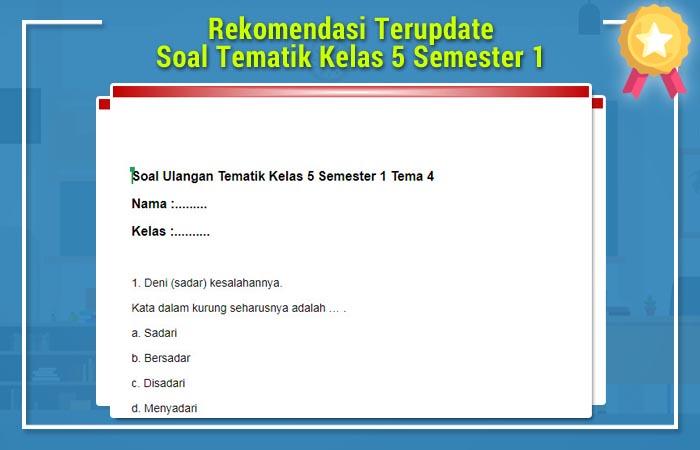 Soal Tematik Kelas 5