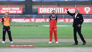 IPL 2020 Qualifire 2 SRH Vs RCB Live Match