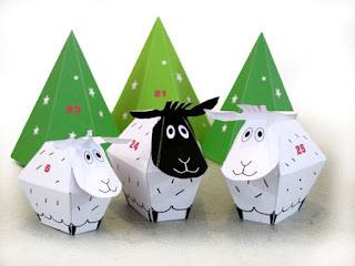 french melody sheep advent calendar funny and colorful