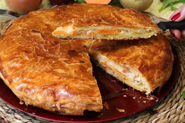 Empanada de Hojaldre relleno salado