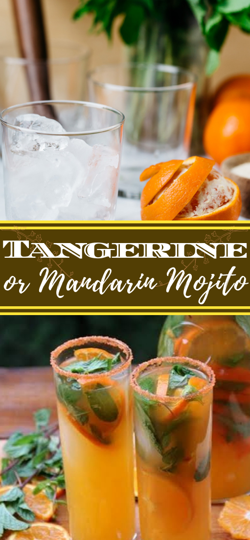 Tangerine or Mandarin Mojito  #healthydrink #easyrecipe #cocktail #smoothie