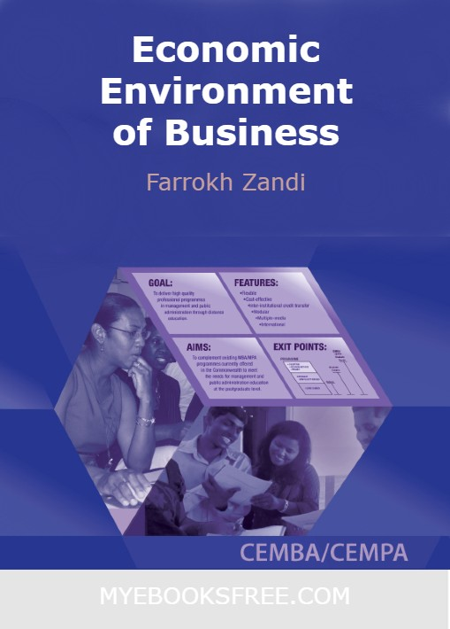 Economic Environment of Business PDF | Commowealth of Learning Executive MBA/MPA