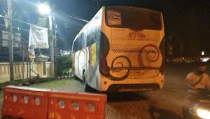 Dua Pengendara Motor Tewas Tertabrak Bus NPM di Merangin