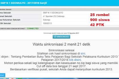 Tips Agar Bisa Cepat Sinkronisasi Dapodik versi 2018