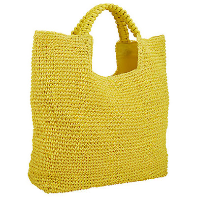 John Lewis Straw Shopper