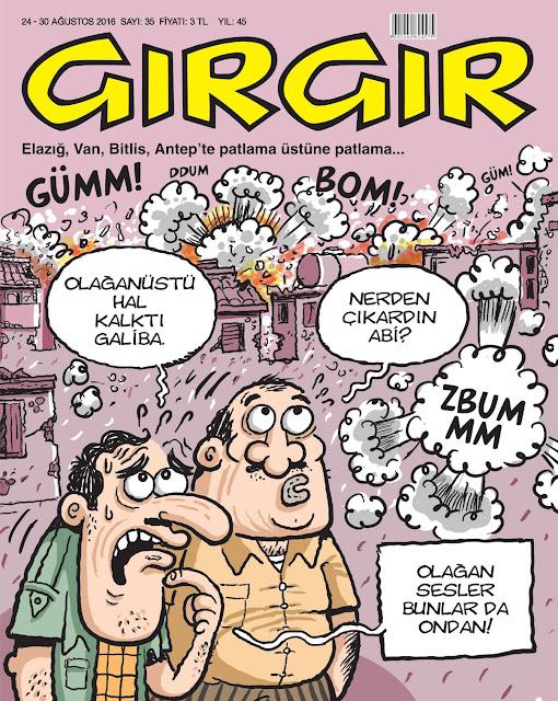 Gırgır Dergisi - 24-30 Ağustos 2016 Kapak Karikatürü