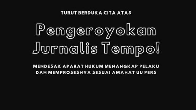 Anggota Polri Pengeroyok Jurnalis Tempo, Tak Beradab