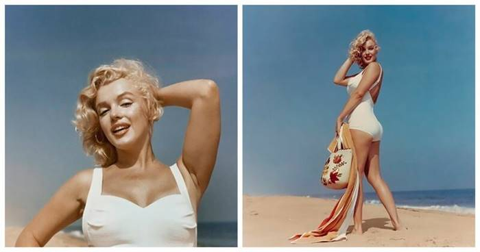 Marilyn Monroe, photographer Sam Shaw arranged for the actress a photo shoot on the beach in Amagansett