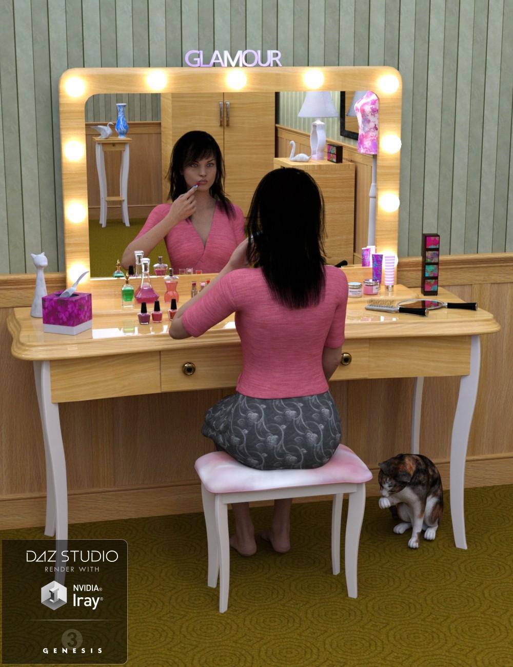Download daz studio 3 for free daz 3d gen 39 s dressing room for Living room 2 for daz studio