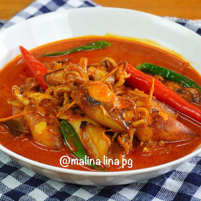 kari sotong ala mamak, resepi gulai sotong, cara masak sotong supaya tidak liat, tips masak sotong, kari sotong kuah pekat,