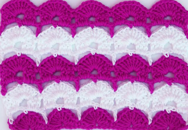 4 - Crochet Imagen Puntada de abanicos para blusas y jerseys por Majovel Crochet