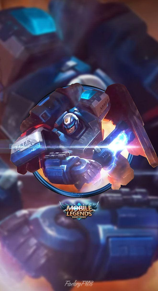Wallpaper Johnson S.A.B.E.R Automata Skin Mobile Legends by FachryFHR HD for Android and iOS