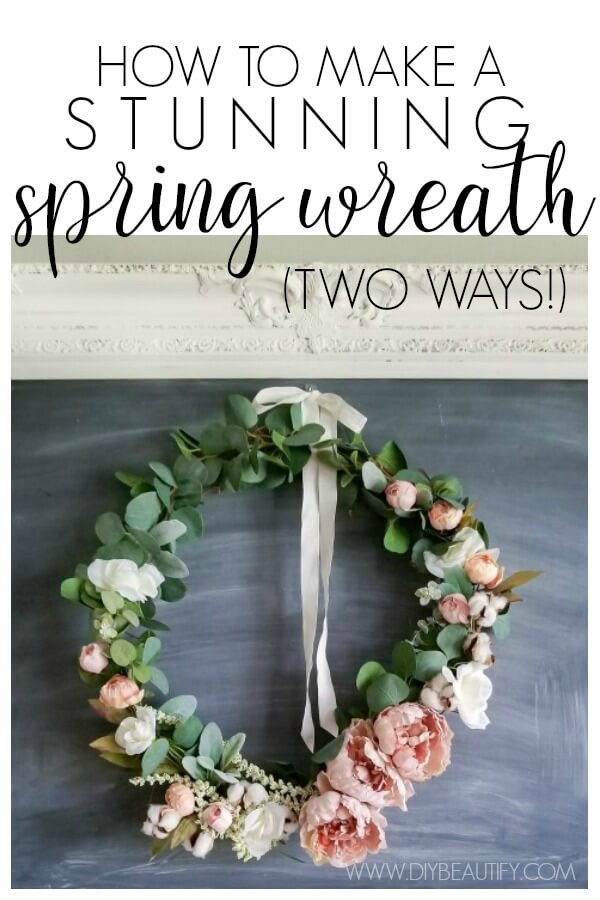 stunning DIY Spring wreath for less