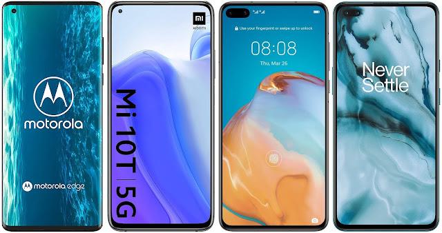 Motorola Edge vs Xiaomi Mi 10T vs Huawei P40 vs OnePlus Nord