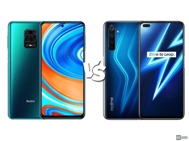 Redmi Note 9S vs Realme 6 Pro Specs Comparison