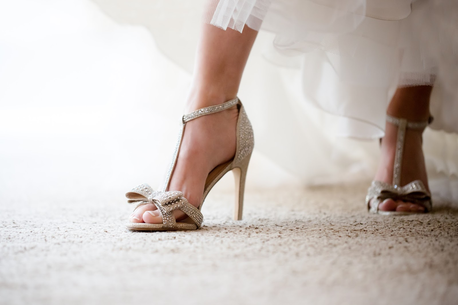 Bride in shoes