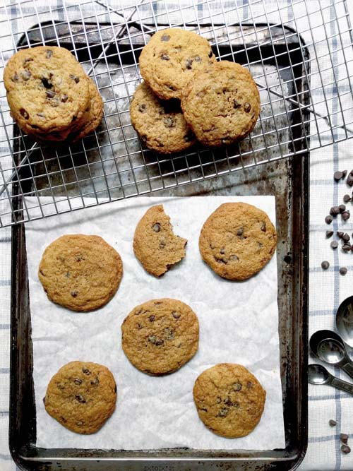 cookies con chips estilo confitería