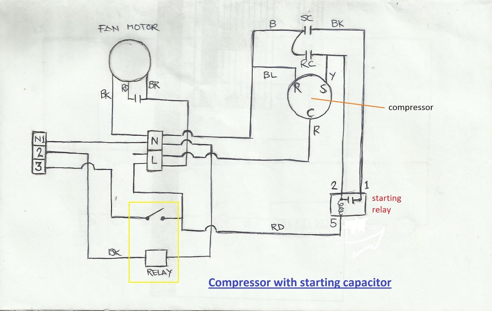 a c condenser wiring diagram