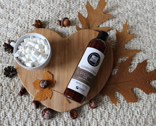 Odżywka Hello Nature, olejek kokosowy - ochrona i odbudowa