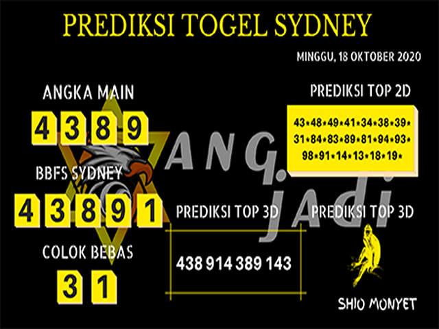 Kode syair Sydney Minggu 18 Oktober 2020 256