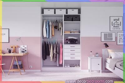 خزانة ملابس جدارية أنيقة