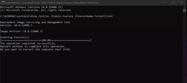 Cara Instal Telnet Client di Windows 11-4