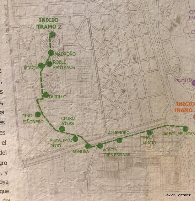 Parque del Retiro de Madrid. Itinerario 2. Del Bosque del Recuerdo al Huerto del Francés