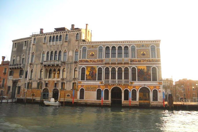 Venice in November: Ornate buildings on the Grand Canal